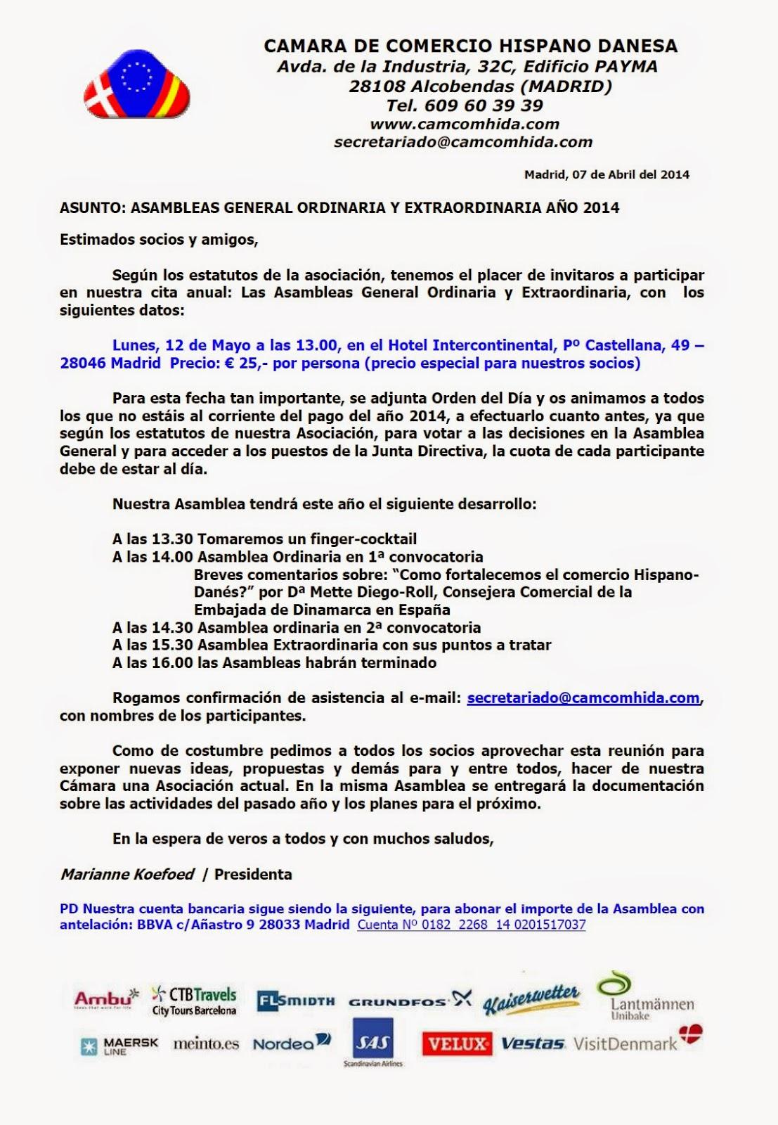CamaraDanesaCartaAsambleaGeneral12Mayo2014