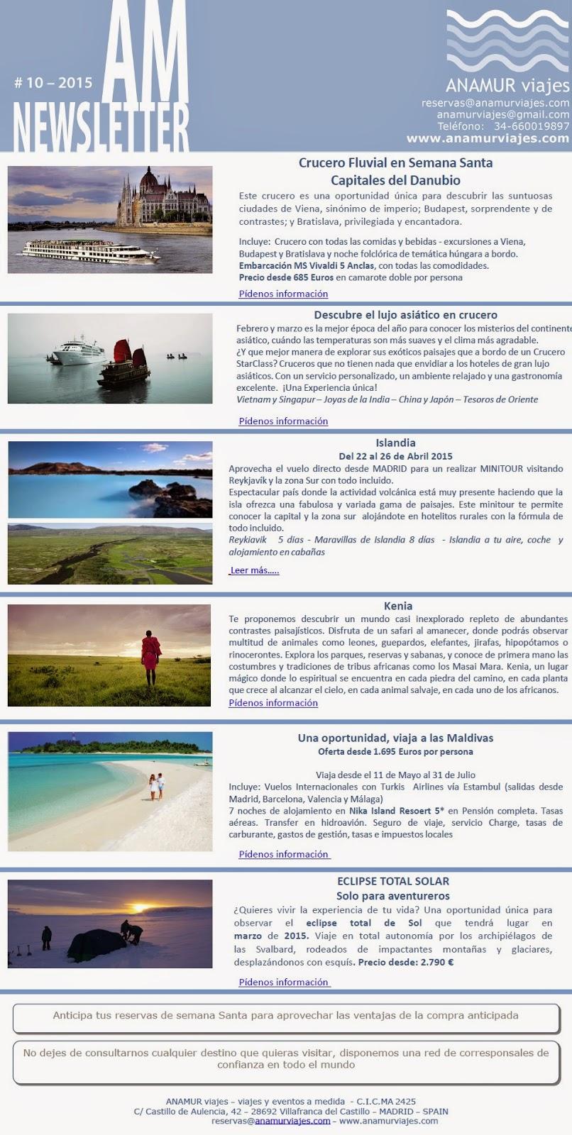 AnamurViajesNewsletterEnero2015