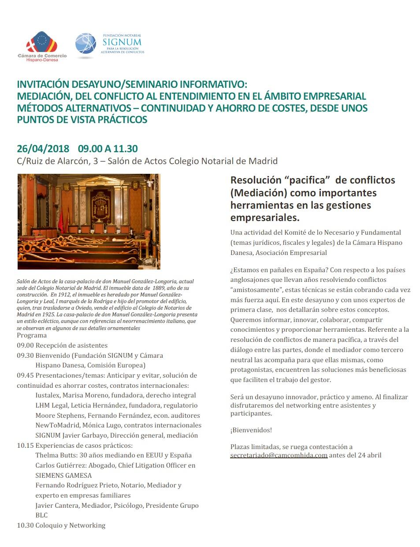 CamaraHispanoDanesaInvitacionMediacionSignum26Abril2018